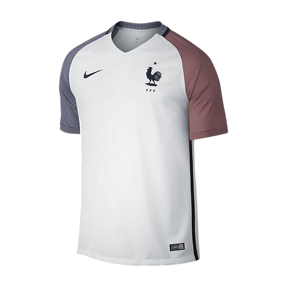 Maillot france ext rieur euro 2016 nike styl 39 foot for Maillot exterieur equipe de france