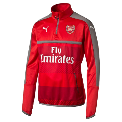Training top Arsenal Puma rojo nino