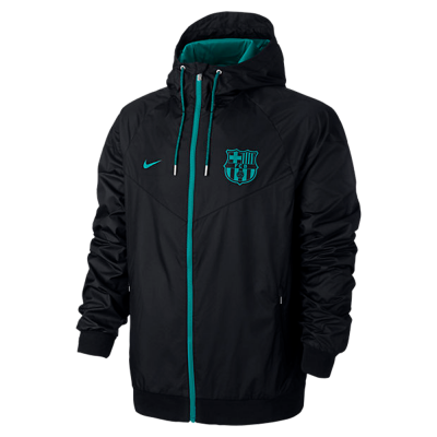 Jacket FC Barcelona Authentic Windrunner Nike black