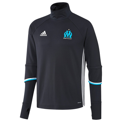Training top Marseille Adidas 2016-17 black kid