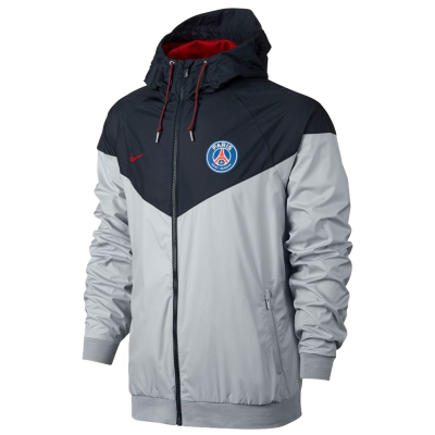 Jacket PSG Authentic Windrunner Nike grey
