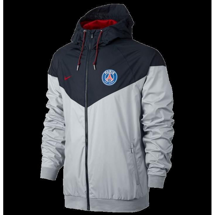 Jacket PSG Authentic Windrunner Nike grey