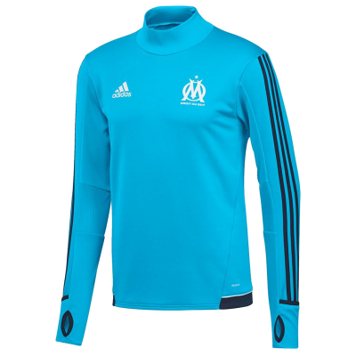 Training top OM Adidas 2017-18 bleu
