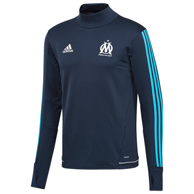 Training top Marseille Adidas 2017-18 black kid