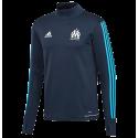 Training top Marseille Adidas 2017-18 black kid