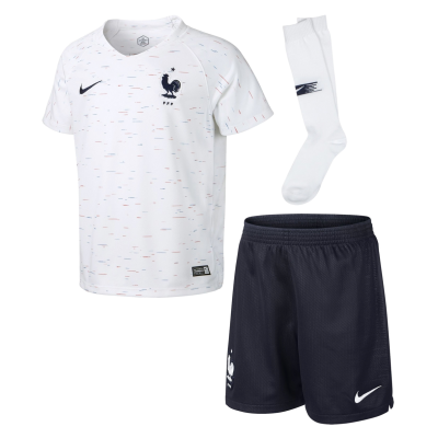 Mini kit Francia blanco 2018 NIKE