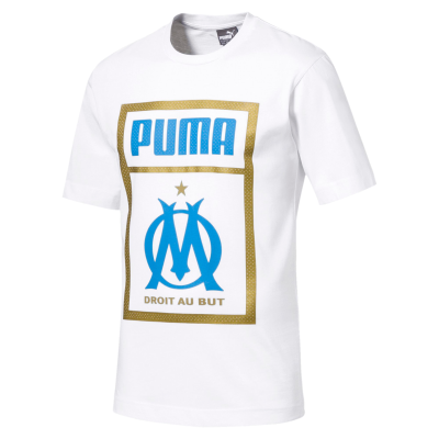 Tee shirt OM fan Puma white