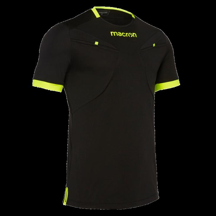 Camiseta de árbitro MACRON negra 2018-20
