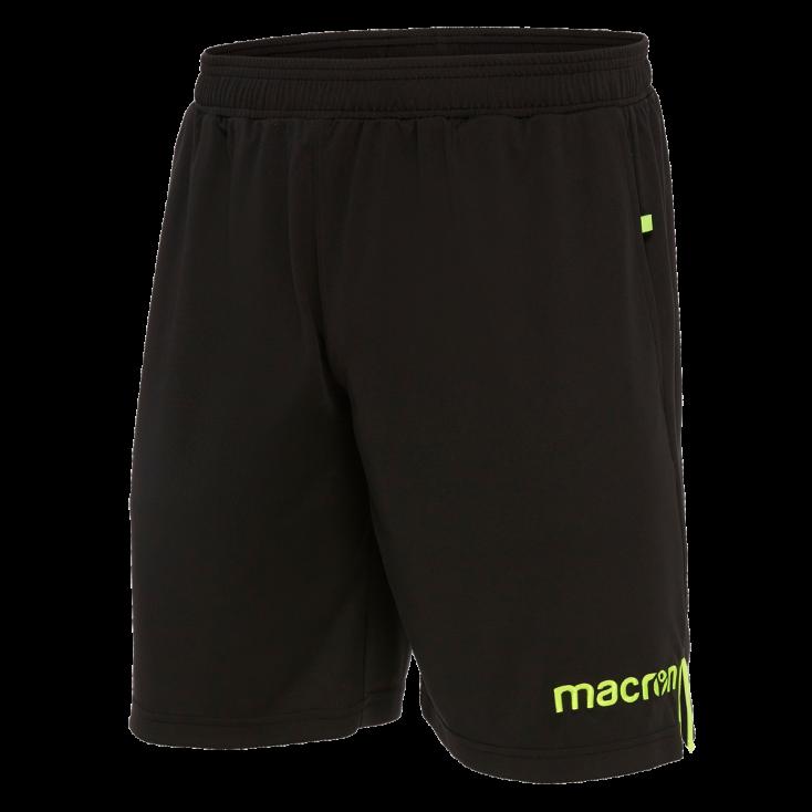 Pantalon corto arbitro negro MACRON 2018-20