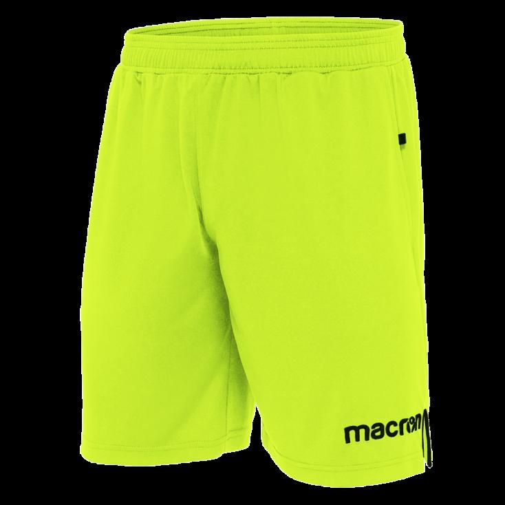 Pantalon corto arbitro MACRON amarillo 2018-20