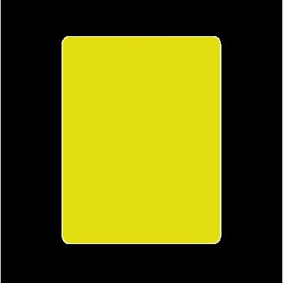 Tarjeta de arbitro amarilla
