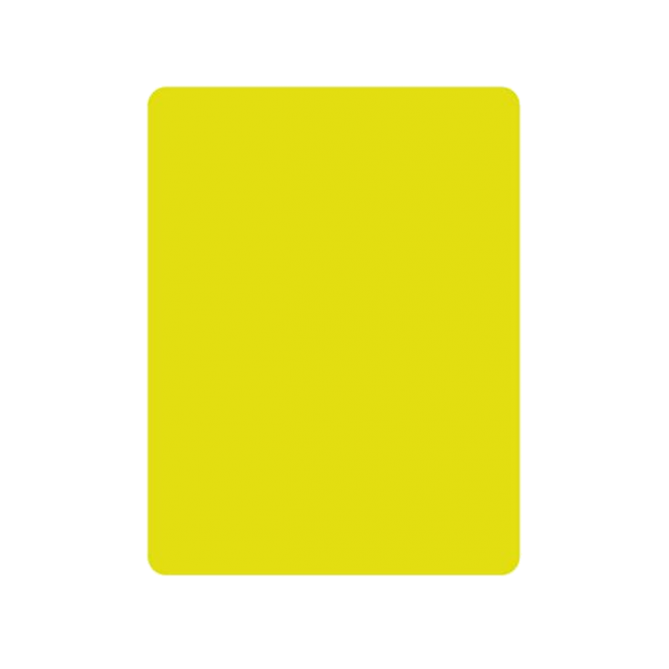 Referee yellow card