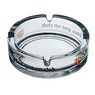 Glass ashtray FC Barcelona