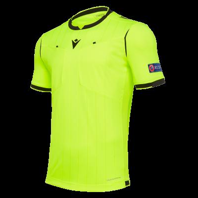 Camiseta de árbitro UEFA amarilla