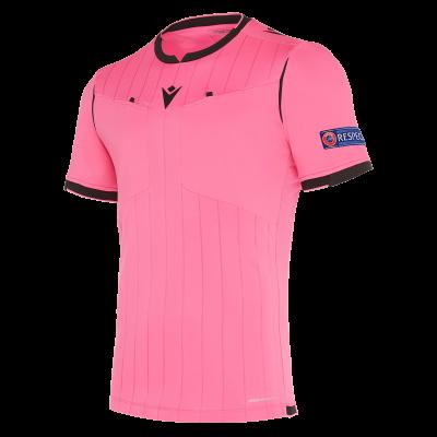 Camiseta de árbitro UEFA rosa