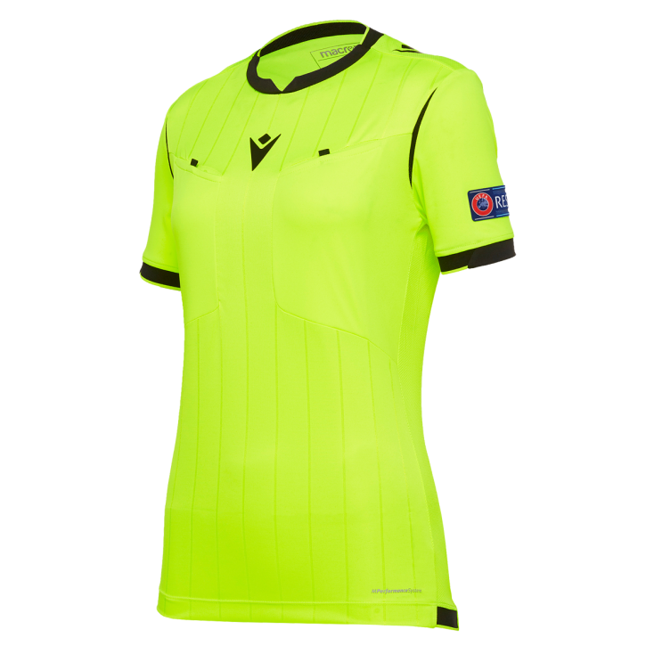 Referee shirt women UEFA yellow