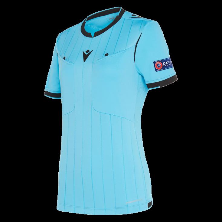 Camiseta de árbitro mujer UEFA azul