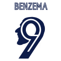 Flocage BENZEMA Real Madrid Champions League 2021
