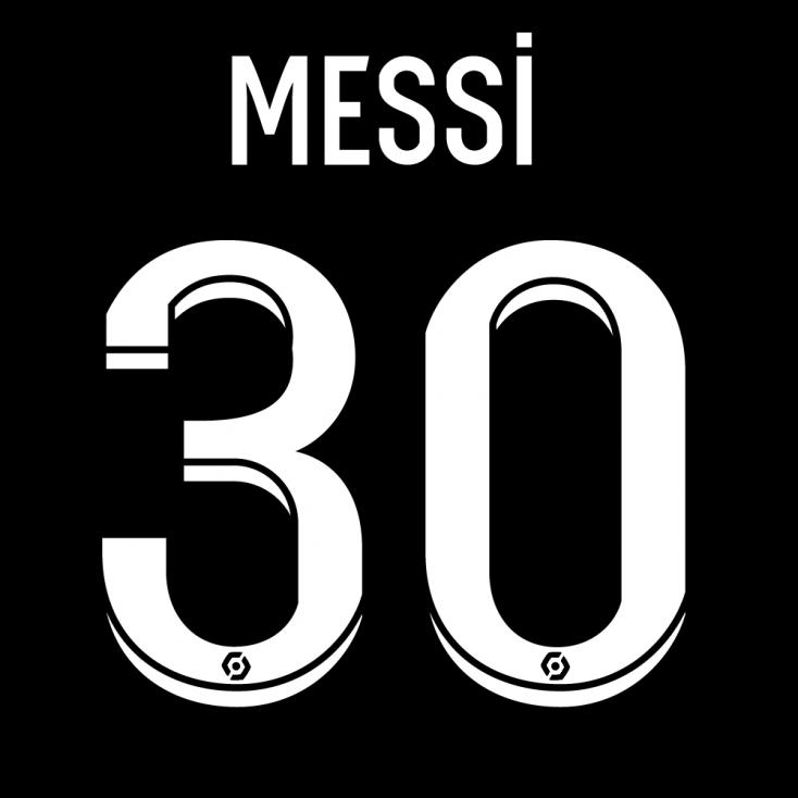 Flocage MESSI 30 PSG