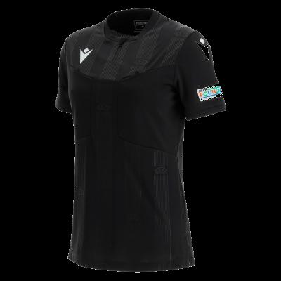 Camiseta de árbitro mujer UEFA negra 2021