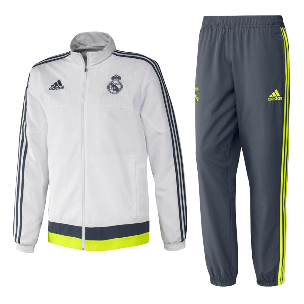surv tement real madrid adidas 2015 16 styl 39 foot. Black Bedroom Furniture Sets. Home Design Ideas