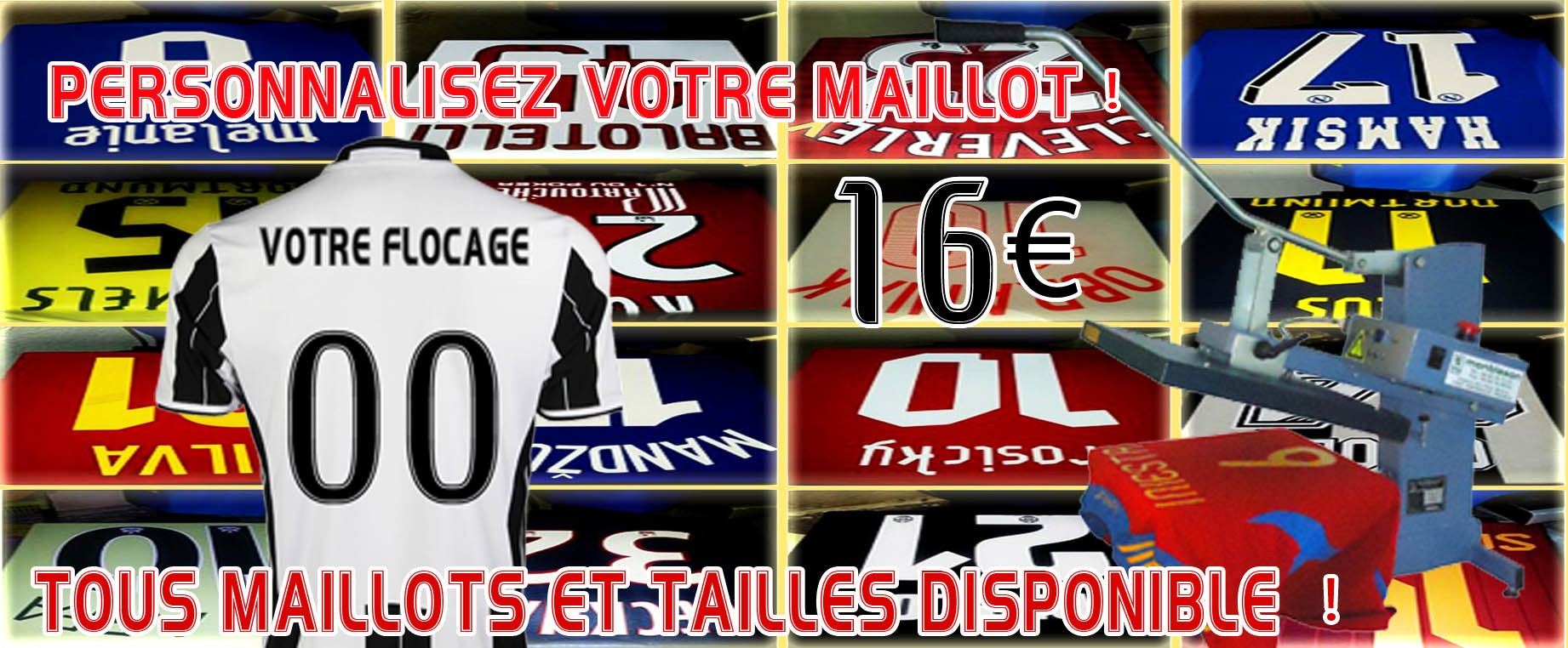 Flocage maillots